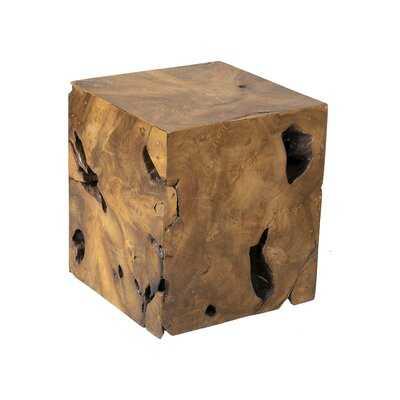 Solid Wood Block End Table - Wayfair