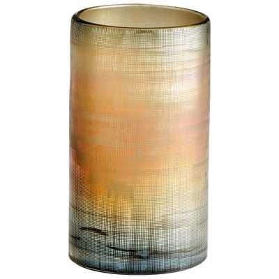 Medium Gilded Grid Vase - Onyx Rowe