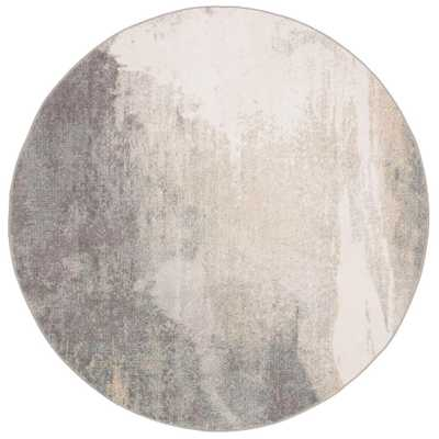 Safavieh Jasper Gray/Gold 5 ft. x 5 ft. Round Area Rug - Home Depot