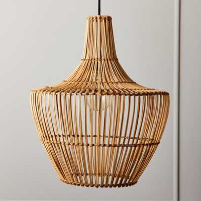 Arwen Wicker Pendant Light - CB2