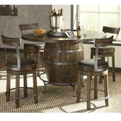 Mauldin Barrel 5 Piece Bar Height Dining Set - Wayfair