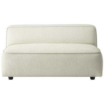 Lenyx Armless Loveseat Bloce Cream - CB2