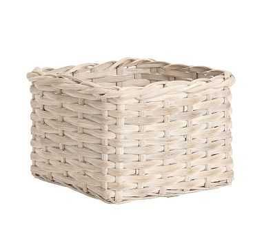 Aubrey Woven Basket, Utility - Whitewash - Pottery Barn