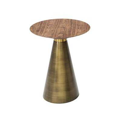 Zeller Pedestal End Table - Wayfair