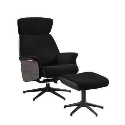 "Fermin 28.75"" W Lounge Chair and Ottoman - Wayfair"