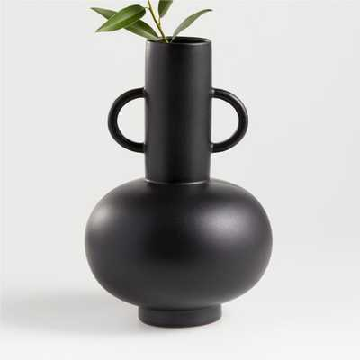 Merriman Black Vase - Crate and Barrel