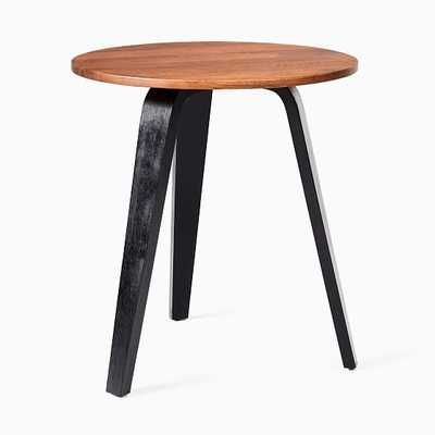 Suite Black/Cool Walnut Round Side Table - West Elm