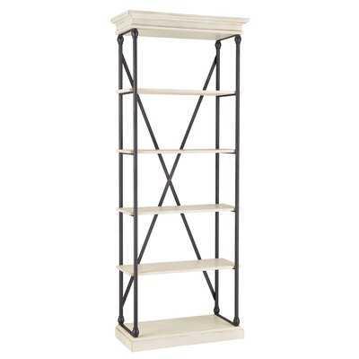 "Kyler 84.25"" H x 33"" W Metal Etagere Bookcase - Wayfair"