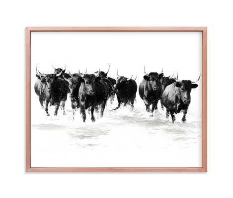 Black Bulls Of The Camargue Art Print - Minted