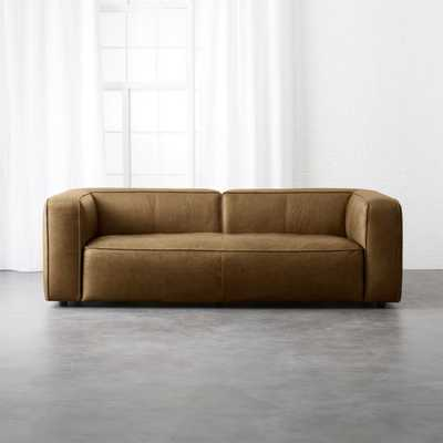 Lenyx Saddle Leather Sofa - CB2