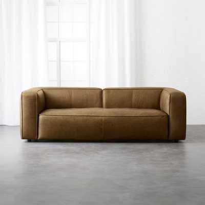 Lenyx Saddle Leather Sofa - CB2
