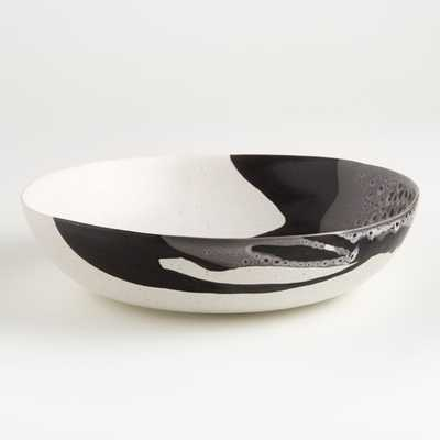 Stella Black Serving Bowl - Crate and Barrel