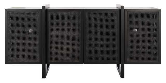 Cordelia Rattan Sideboard - Black - Arlo Home - Arlo Home
