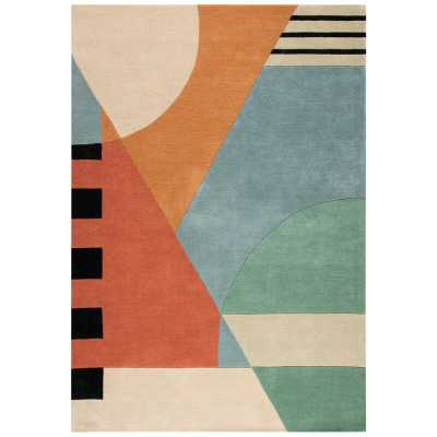 Rodeo Drive Hand-Tufted Wool Orange Area Rug Rug Size: Rectangle 5' x 8' - Perigold