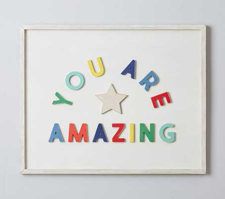You Are Amazing Wood Sentiment Art - Pottery Barn Kids