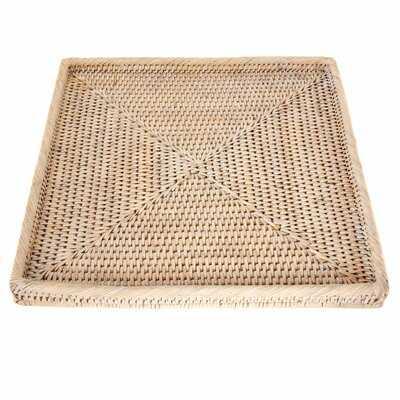 Square Tray Wicker/Rattan Basket - Birch Lane