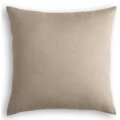 "Loom Decor Velvet Throw Pillow Color: Beige, Size: 24"" x 24"" - Perigold"