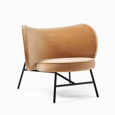 Max Chair, Poly, Biege, Black - West Elm