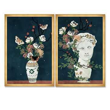Oliver Gal Delicate Framed Art, Set of 2, Multi - West Elm