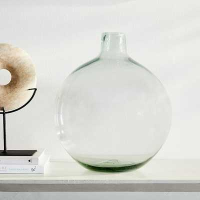 Pure Glass Vase, Ball, Clear, Extra Large - West Elm