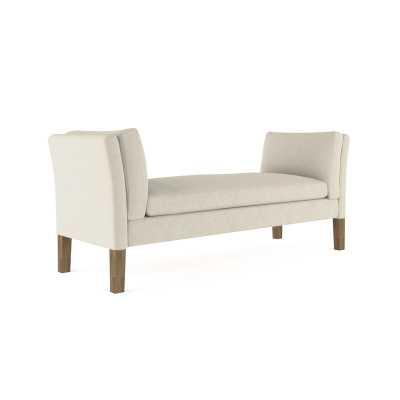 Tandem Arbor Union Velvet Upholstered Bench Upholstery: Silver - Perigold