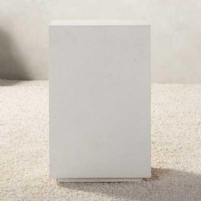 White Concrete Side Table - CB2