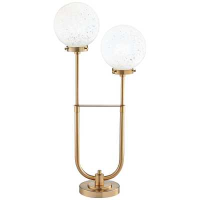 Madison Park Twin Arm Modern Globe LED Table Lamp - Style # 94R71 - Lamps Plus