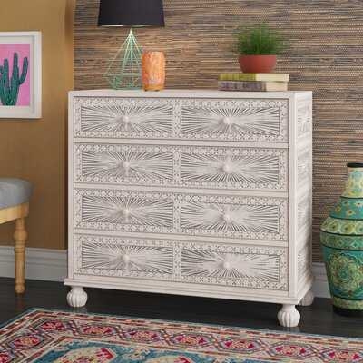 Stevens Traditional Hand Painted 4 Drawer Accent Chest - Wayfair