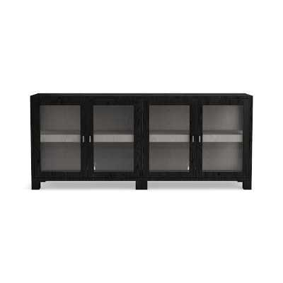 Bottega 4 Door Media Console, Oak, Ebonized Oak - Williams Sonoma