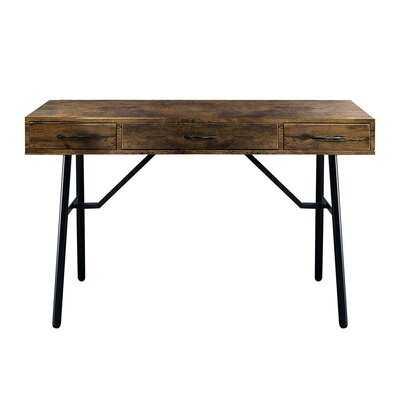 Rustic Oak & Black Jalia Desk - Wayfair
