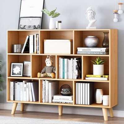 "Hollier 42"" Geometric Bookcase - Wayfair"