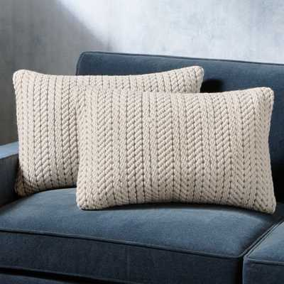"Byron Rope Weave Pillow 24""x16"", Set of 2 - Crate and Barrel"