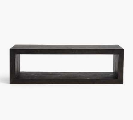 Folsom Coffee Table, Charcoal - Pottery Barn