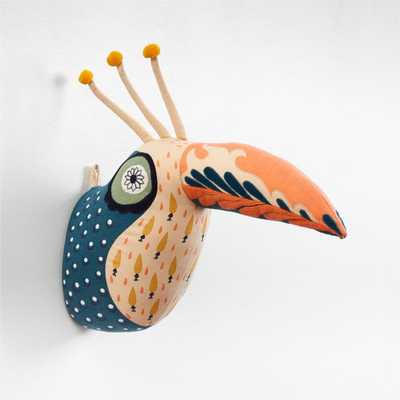 Curious Toucan Head Wall Decor - Crate and Barrel