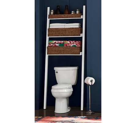 Ainsley Over-the-Toilet Ladder, White - Pottery Barn