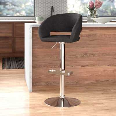 Amanda Adjustable Height Swivel Bar Stool - AllModern
