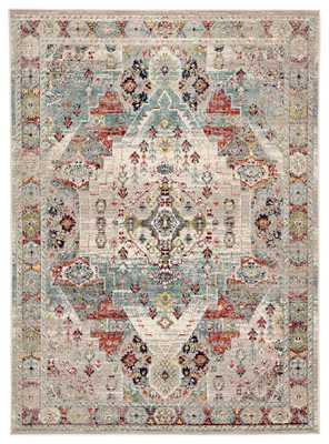 Farra Indoor/ Outdoor Medallion Multicolor/ Green Area Rug (9'X12') - Collective Weavers