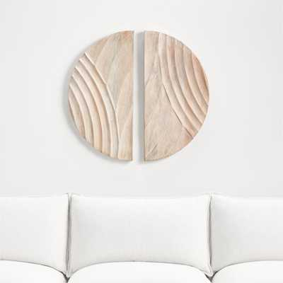 Dune Bleached Wood Wall Art - Crate and Barrel