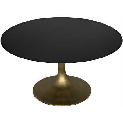 Noir Herno Dining Table Base Color: Black Metal - Perigold