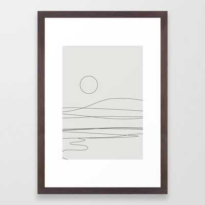 Abstract Landscape 15c Framed Art Print by The Old Art Studio - Conservation Walnut - SMALL-15x21 - Society6
