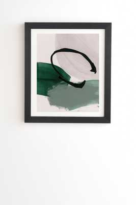 "Minimalist Painting 01 by Iris Lehnhardt - Framed Wall Art Basic Black 30"" x 30"" - Wander Print Co."
