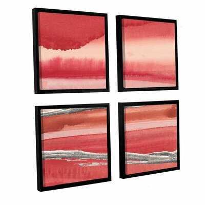 'Silver Marsh 4 Piece' Framed Painting Print Set - Wayfair