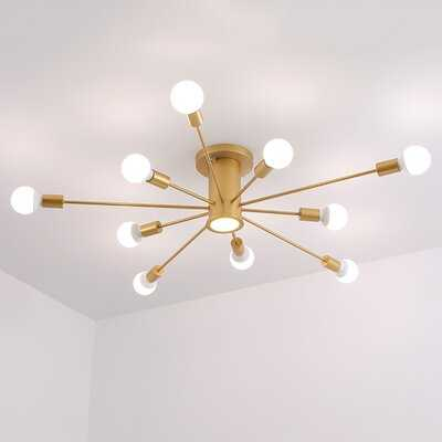 "Wingate 10-Light 39.37"" Sputnik Sphere Semi Flush Mount - Wayfair"