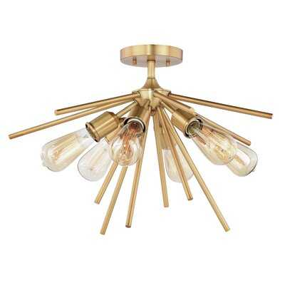 "Barlo 6 - Light 24"" Sputnik Sphere Semi Flush Mount - AllModern"