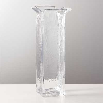Flare Clear Glass Vase - CB2