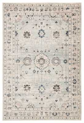 """Stirling Oriental Light Blue/ Light Gray Area Rug (7'8""""X10'3"""") - Collective Weavers"""