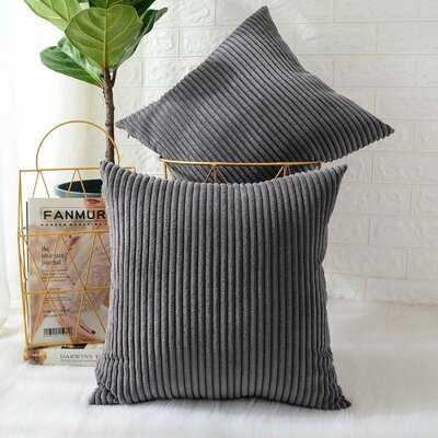 Ayedin Striped 18'' Throw Pillow Cover - Wayfair