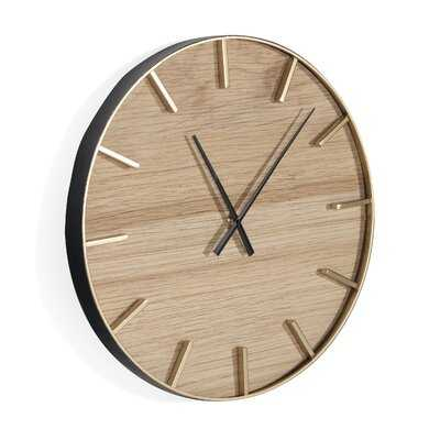 "Oversized Spradling 24"" Wall Clock - Wayfair"