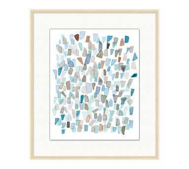"Cabo Sea Glass 1 Framed Print, 23.25"" x 27.25"" - Pottery Barn"