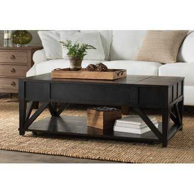 Lebanon Solid Wood Lift Top Coffee Table with Storage - Birch Lane